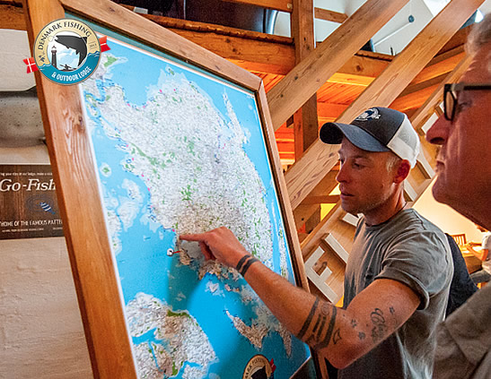 Omar Gade sea trout fishing guide denmark fishing lodge fly fishing and spin fishing fyn
